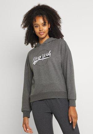ONLDREAMER COLLEGE HOOD - Sweatshirt - medium grey melange