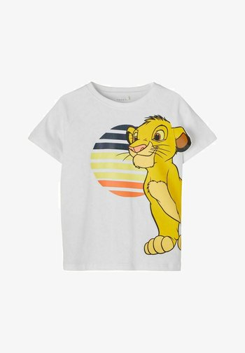 DISNEY LION KING - Camiseta estampada - bright white