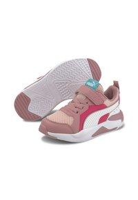 Puma - X-RAY AC KIDS - Baskets basses - peachskin-wht-foxglove-pink - 2