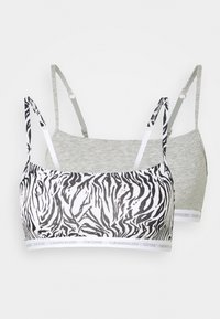 grey heather/glass tiger print