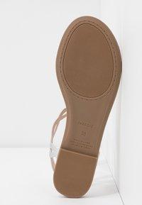 PARFOIS - T-bar sandals - silver - 6