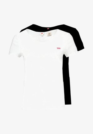 TEE 2 PACK - Basic T-shirt - white/mineral black