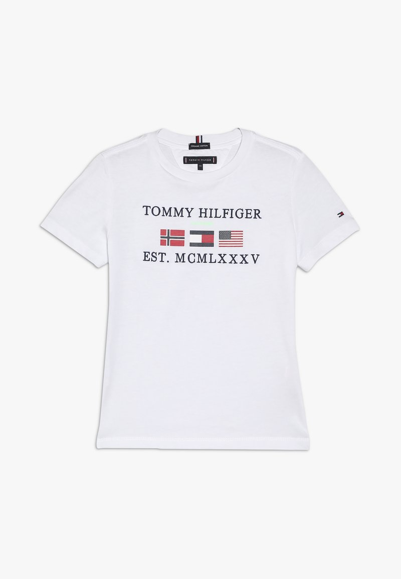 Tommy Hilfiger - FLAGS ALPINE TEE  - T-shirt print - white