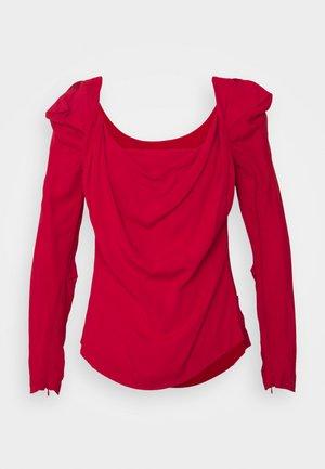 ELIZABETH - Long sleeved top - red