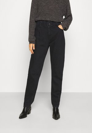NMISABEL PAPERBAG MOM  - Jeans relaxed fit - black denim
