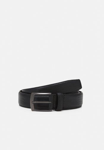 LEATHER - Belt - black