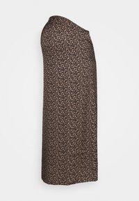 MIDI SKIRT SPOT - Áčková sukně - brown/cream