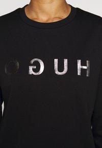 HUGO - NICCI - Long sleeved top - black/silver - 7