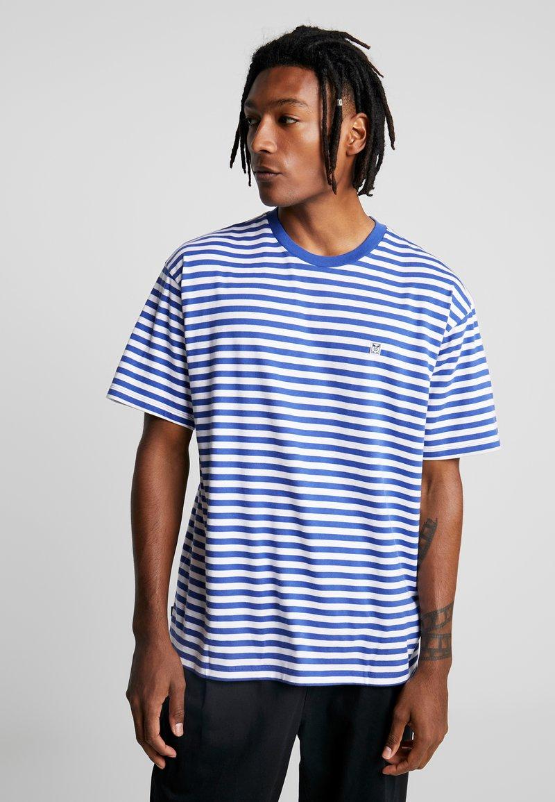 Obey Clothing - ICON STRIPE BOX TEE - T-shirt imprimé - blue multi
