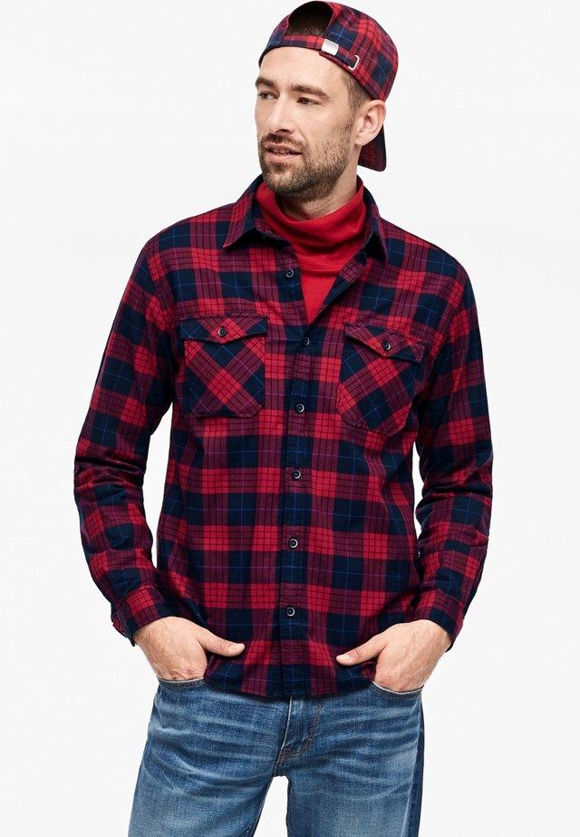 MIT KAROS - Shirt - navy/red