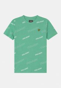 Lyle & Scott - OUTLINE  - Print T-shirt - neptune green - 0