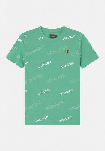 OUTLINE  - Print T-shirt - neptune green