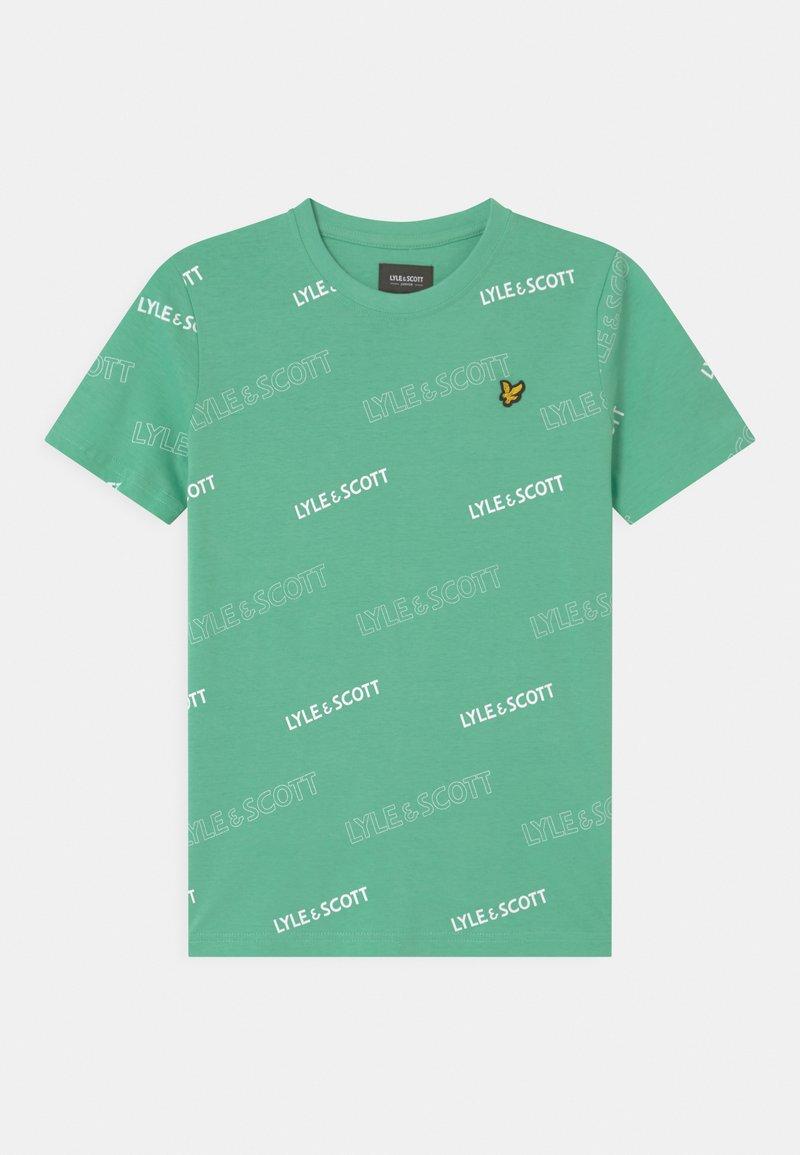 Lyle & Scott - OUTLINE  - Print T-shirt - neptune green