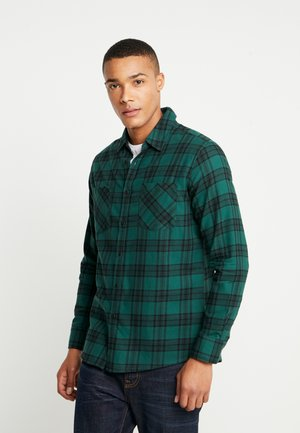 CHECKED  - Shirt - darkgreen/black
