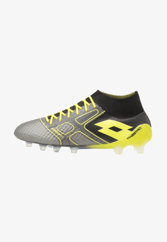 MAESTRO 100 III FG - Moulded stud football boots - gravity titan/acacia green/all black