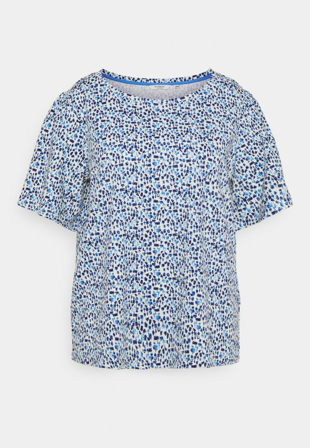 WITH SLEEVE GATHERING - T-shirts med print - blue aquarelle