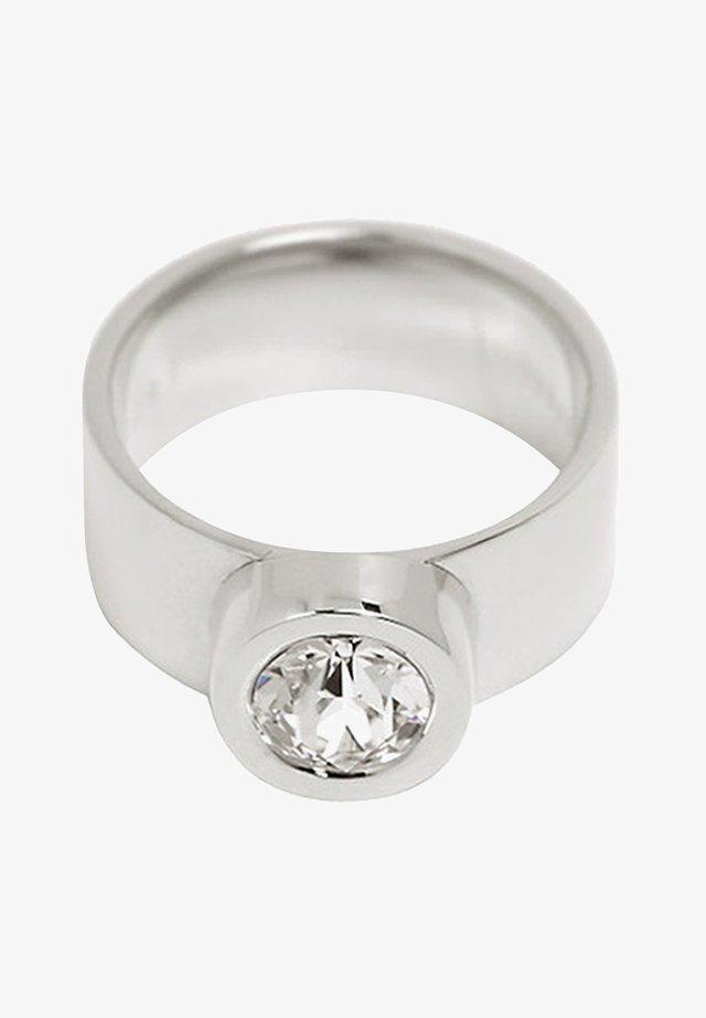 MIT ZIRKONIA, EDELSTAHL - Ring - silver-coloured