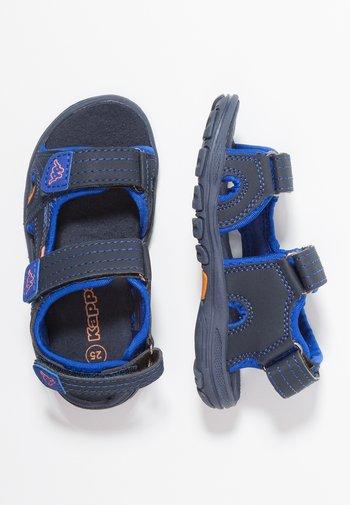 EARLY II - Walking sandals - navy/orange
