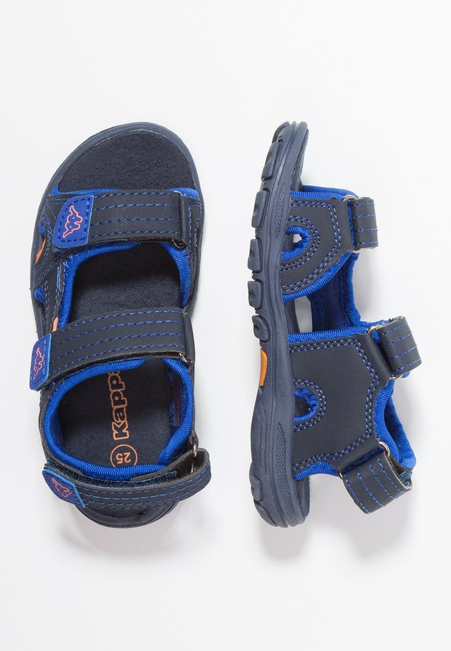 EARLY II - Trekkingsandale - navy/orange