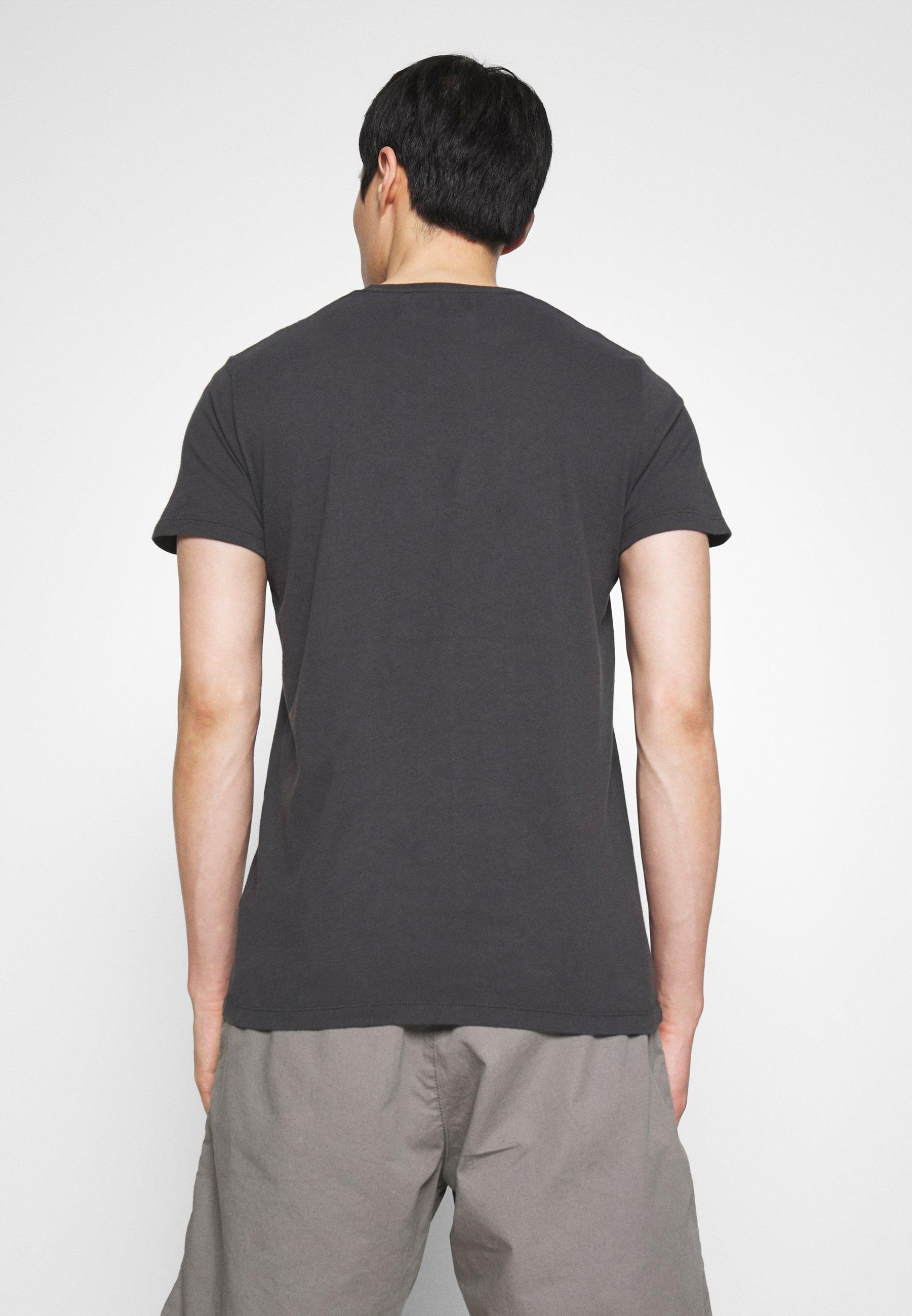 Abercrombie & Fitch Core Heritage Logo - T-shirt Z Nadrukiem Black