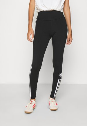 COLOR SPORTS INSPIRED SLIM TIGHTS - Legginsy - black/white