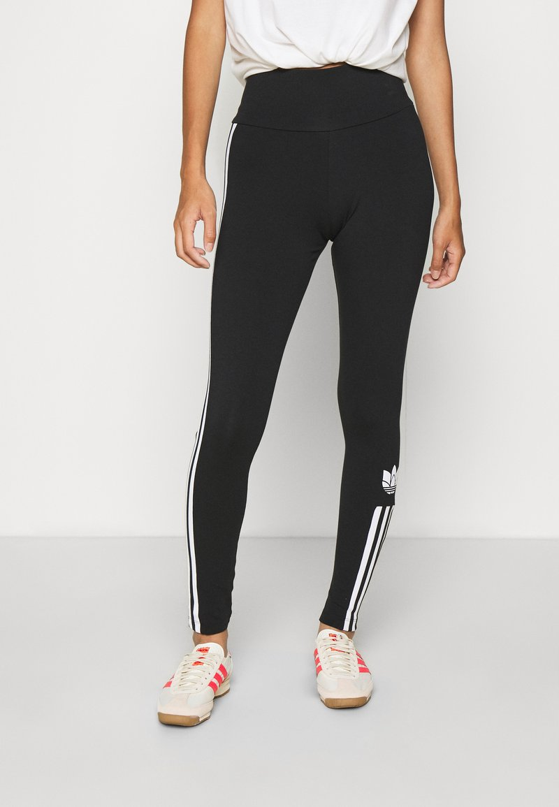 adidas Originals - COLOR SPORTS INSPIRED SLIM TIGHTS - Legginsy - black/white