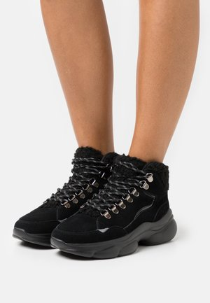 LEATHER - High-top trainers - black