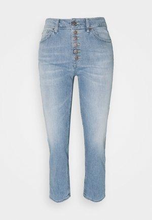KOONS - Straight leg jeans - yellow thread