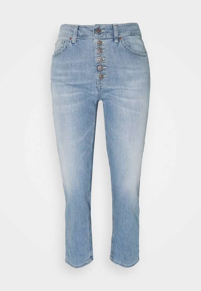 KOONS - Straight leg jeans - yellow thread