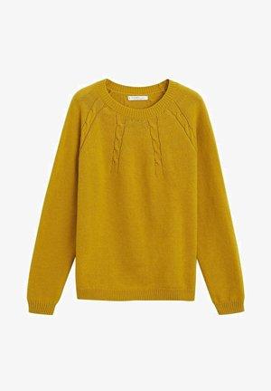 ARAN - Trui - mustard