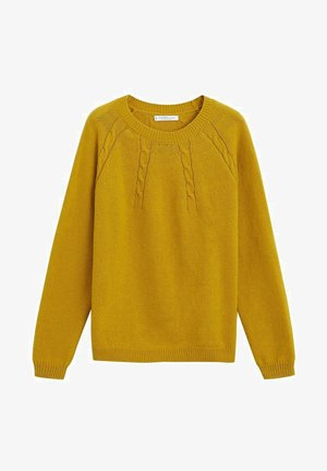 ARAN - Sweter - mustard