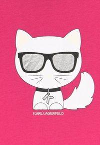 KARL LAGERFELD - Jersey dress - rasberry - 3