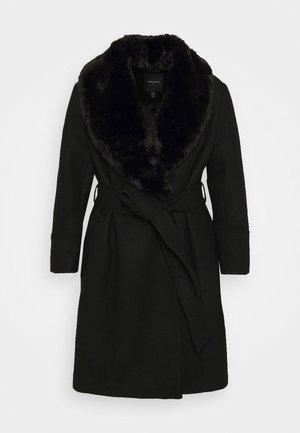 EMORY WRAP COAT - Klasický kabát - black