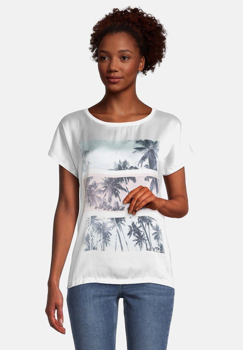Cartoon - Print T-shirt - weiß rosa