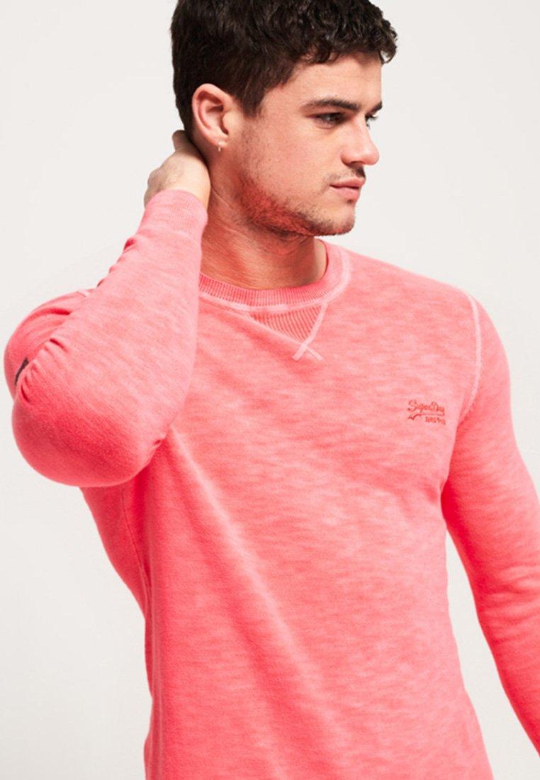 Superdry fluor pink ronde hals trui