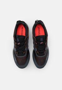 adidas Performance - TERREX AGRAVIC FLOW UNISEX - Zapatillas de senderismo - core black/crystal white/solar red - 3