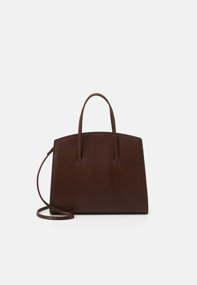 MINIMAL MINI TOTE - Käsilaukku - dark brown