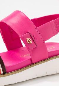 Cole Haan - GLOBAL DOUBLE BAND  - Platform sandals - fuschia/purple/multicolor - 2