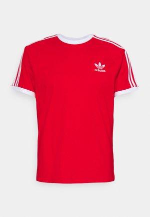 STRIPES TEE - T-shirt z nadrukiem - red