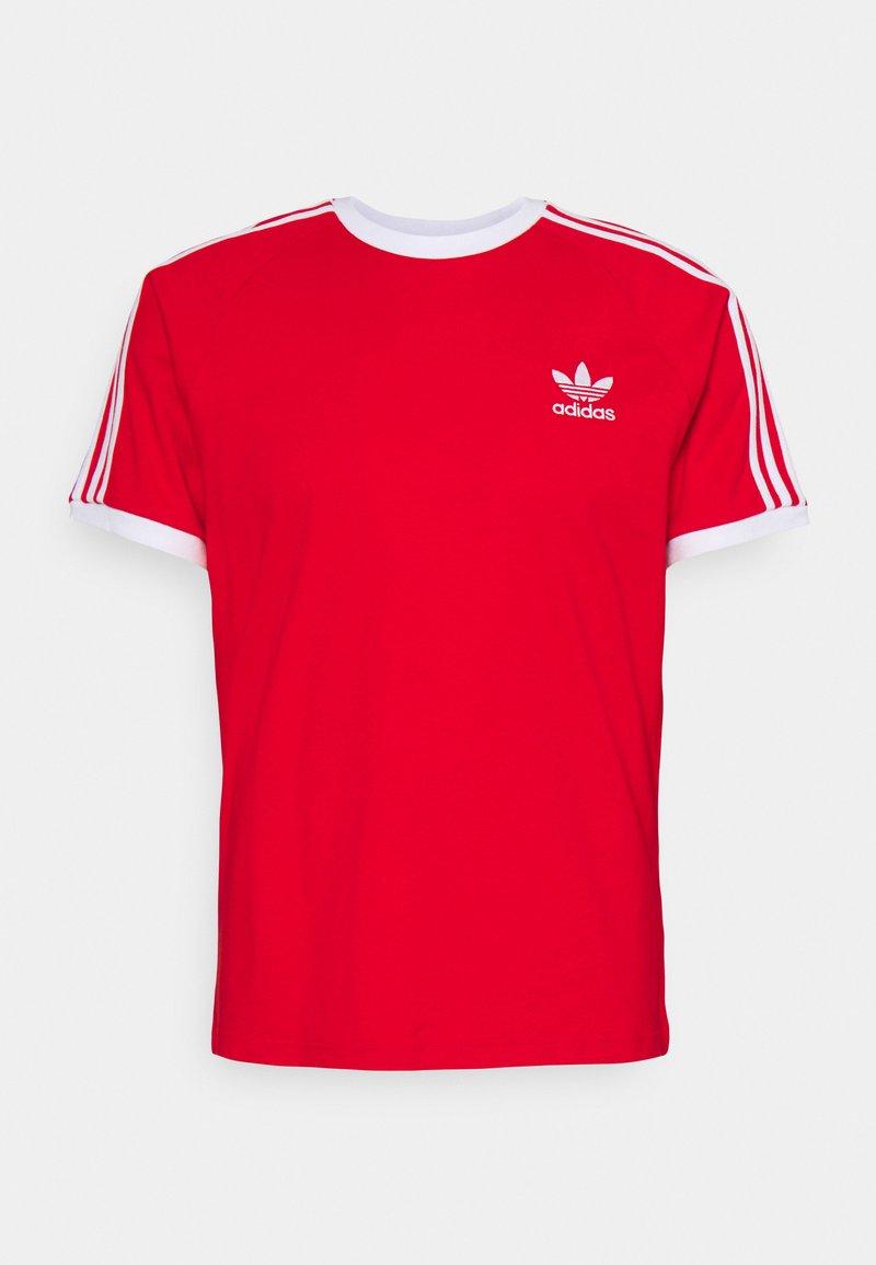 adidas Originals - STRIPES TEE - T-shirt print - red