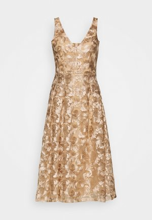 YASTIMON MIDI DRESS SHOW - Vestito elegante - warm taupe