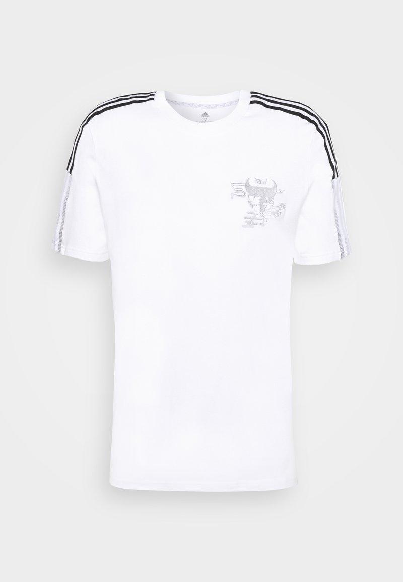 adidas Performance - REAL MADRID TEE - Klubové oblečení - white