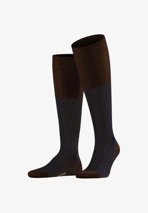 OXFORD STRIPE - Knee high socks - chestnut (5540)