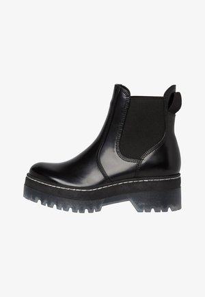 CHELSEA - Platform ankle boots - black brush