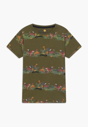 TEEN BOYS  - Print T-shirt - burnt olive