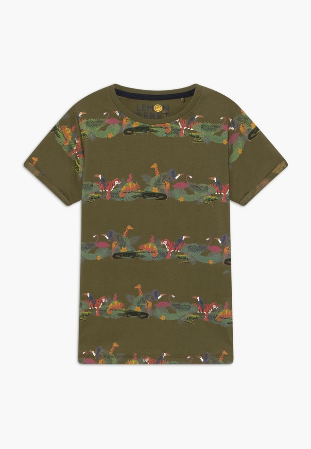 TEEN BOYS  - T-shirt z nadrukiem - burnt olive