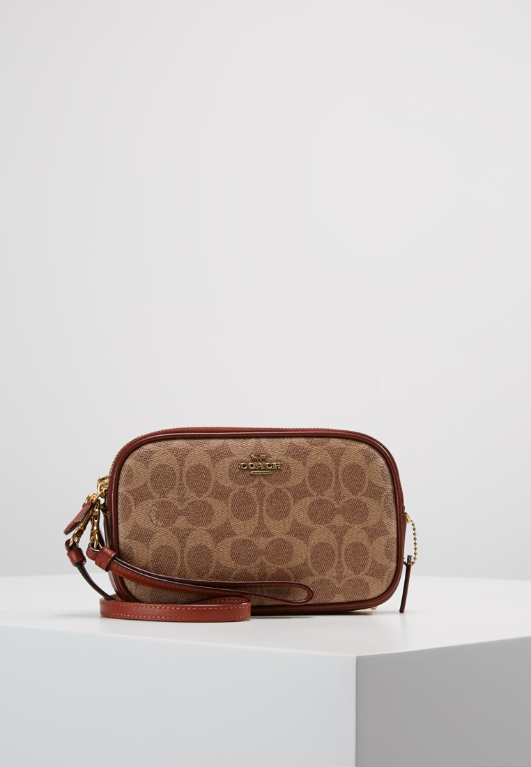 Coach - SIGNATURE CROSSBODY - Across body bag - tan rust