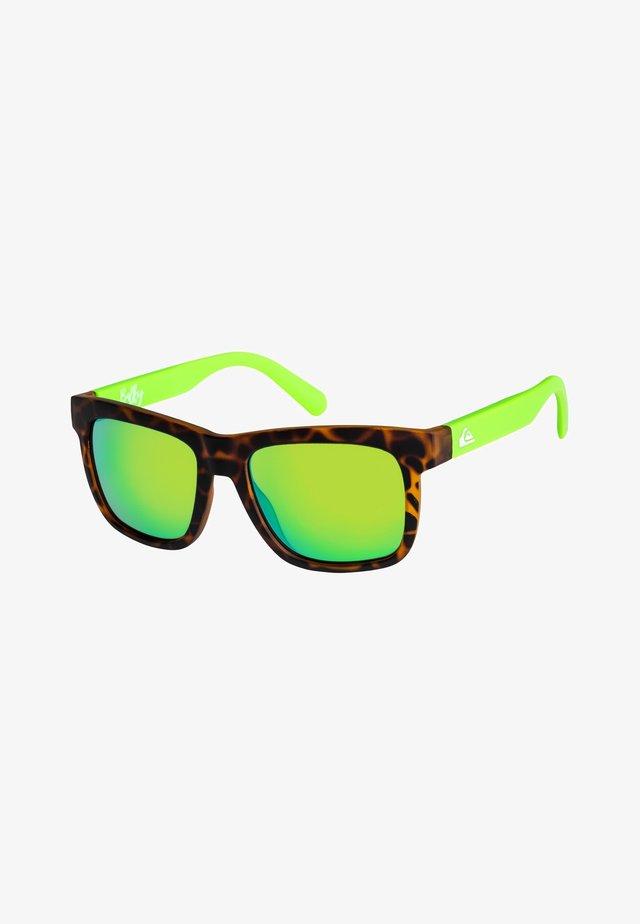 BALKY  - Sunglasses - matte tortoise/ml green