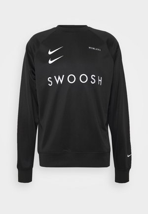 CREW - Long sleeved top - black/white