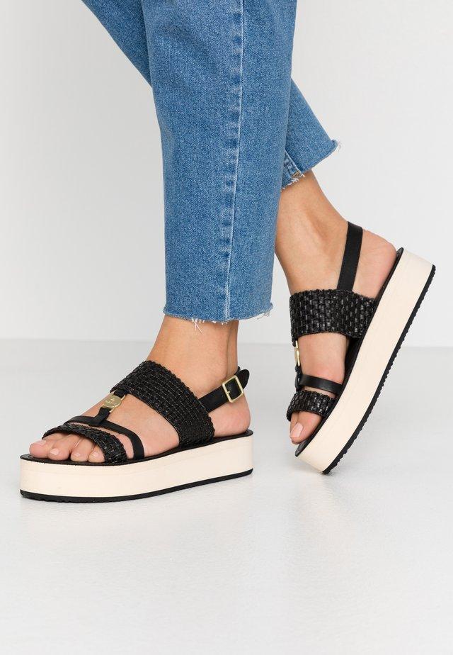 MIDVILLE  - Sandály na platformě - black